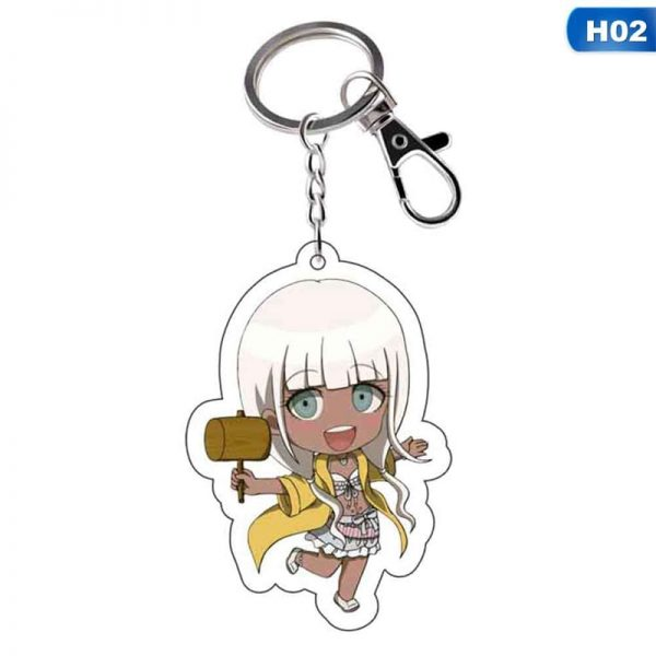Anime Danganronpa Dangan Ronpa Komaeda Nagito Acrylic Figure keychain Keyring Decoration Collection Model Toy Cosplay 3 - Danganronpa Merch