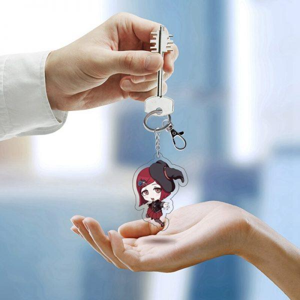 Anime Danganronpa Dangan Ronpa Komaeda Nagito Acrylic Figure keychain Keyring Decoration Collection Model Toy Cosplay 5 - Danganronpa Merch