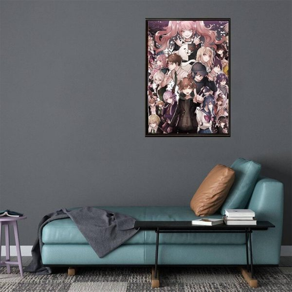 Anime Game Poster Danganronpa Posters Decoration Stickers and Prints Home Room Bar Wall Decor Poster Art 3 - Danganronpa Merch