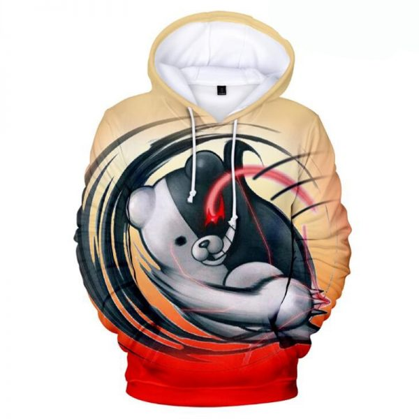Anime Super Danganronpa Monokuma Cosplay Costume 3D Printed Unisex Oversized Casual Hoodies Sweatshirts Fashion Full Cartoon 4 - Danganronpa Merch