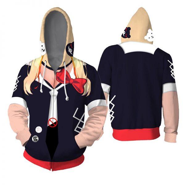Costume Danganronpa Cosplay Hoodies Enoshima Junko Hoodies Nanami Chiaki Hooded Jackets Anime Adult Tops Unisex Polyester 1 - Danganronpa Merch
