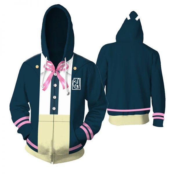 Costume Danganronpa Cosplay Hoodies Enoshima Junko Hoodies Nanami Chiaki Hooded Jackets Anime Adult Tops Unisex Polyester 2 - Danganronpa Merch
