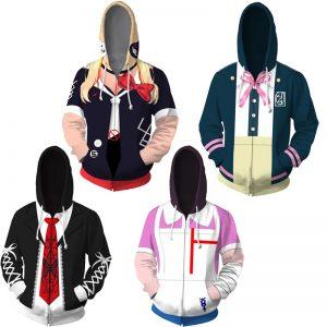 Costume Danganronpa Cosplay Hoodies Enoshima Junko Hoodies Nanami Chiaki Hooded Jackets Anime Adult Tops Unisex Polyester - Danganronpa Merch