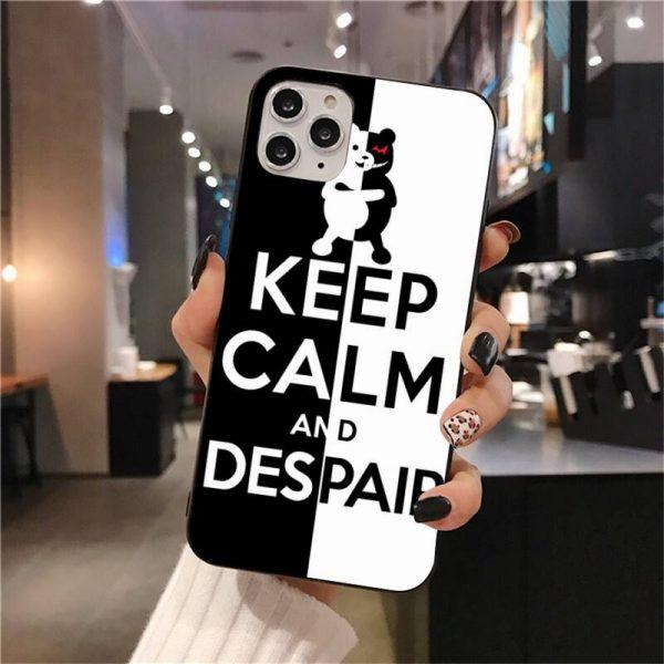 Cute Kumamon Danganronpa Monokuma Soft Silicone Black Phone Case for iPhone 11 pro XS MAX 8 3 - Danganronpa Merch