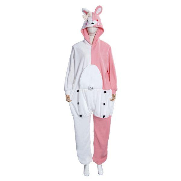 Danganronpa Dangan Ronpa Monokuma Monomi Cosplay Costume Pink Pajamas Suit Halloween Carnival Party Jumpsuit Sleepwear 1 - Danganronpa Merch