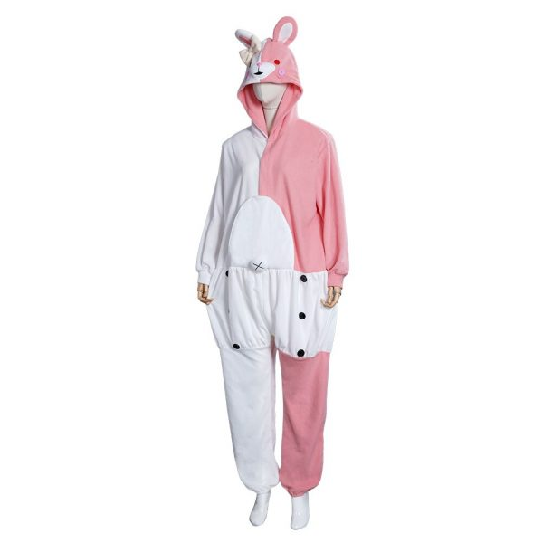 Danganronpa Dangan Ronpa Monokuma Monomi Cosplay Costume Pink Pajamas Suit Halloween Carnival Party Jumpsuit Sleepwear 2 - Danganronpa Merch