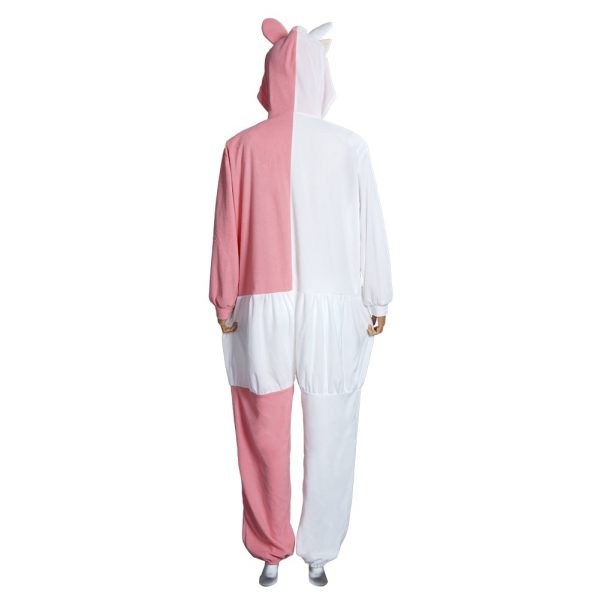 Danganronpa Dangan Ronpa Monokuma Monomi Cosplay Costume Pink Pajamas Suit Halloween Carnival Party Jumpsuit Sleepwear 3 - Danganronpa Merch