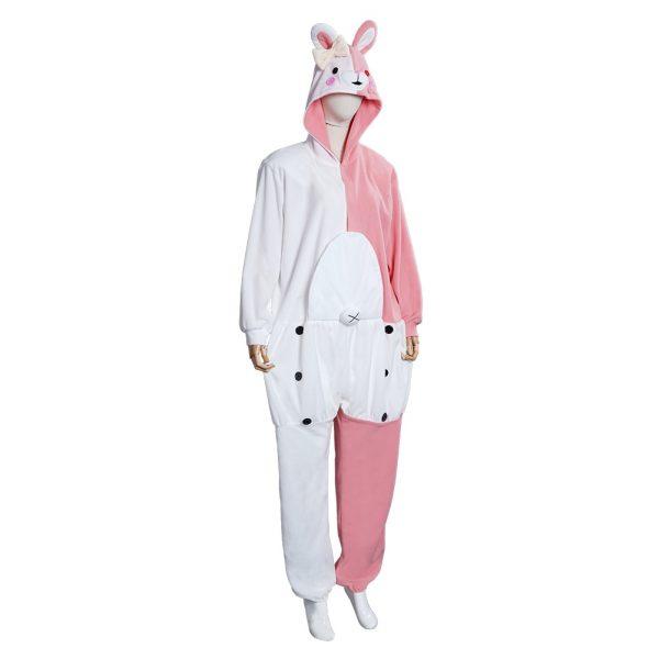 Danganronpa Dangan Ronpa Monokuma Monomi Cosplay Costume Pink Pajamas Suit Halloween Carnival Party Jumpsuit Sleepwear 4 - Danganronpa Merch