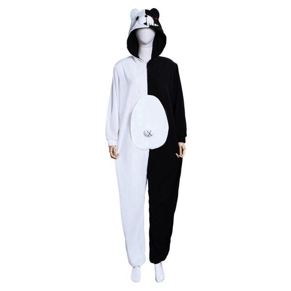 Danganronpa Dangan Ronpa Monokuma and Monomi Cosplay Costume Jumpsuit Pajamas 1 - Danganronpa Merch