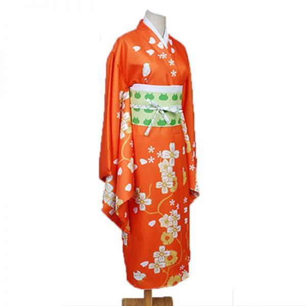 Game Danganronpa 2 Hiyoko Saionji Cosplay Costumes Girls Hiyoko Orange Dress Kimono Sets Hair Wigs For 2 - Danganronpa Merch