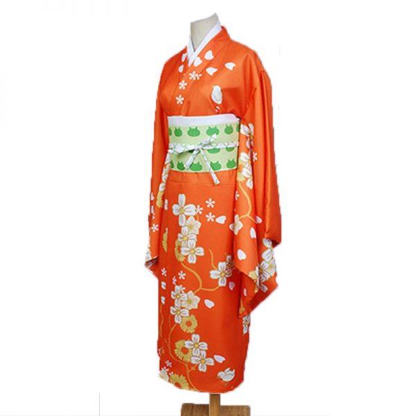 Game Danganronpa 2 Hiyoko Saionji Cosplay Costumes Girls Hiyoko Orange Dress Kimono Sets Hair Wigs For 3 - Danganronpa Merch