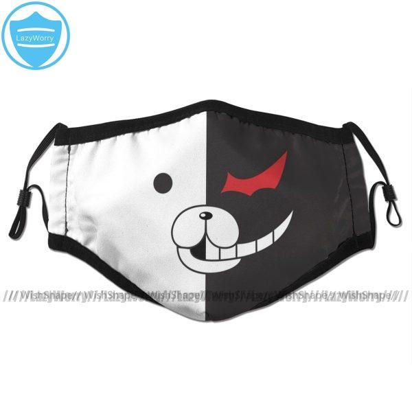 Monokuma Mouth Face Mask DanganRonpa Monokuma Face Facial Mask Fashion Funny with 2 Filters for Adult - Danganronpa Merch