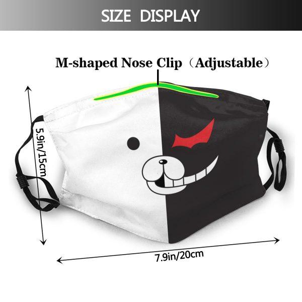 Monokuma Mouth Face Mask DanganRonpa Monokuma Face Facial Mask for Adult Nice with Filters Fashion Mask 1 - Danganronpa Merch