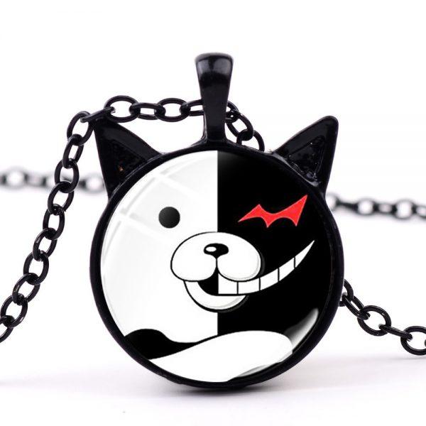 SONGDA Anime Game Dangan Ronpa Danganronpa Chain Necklace for Fans Oma Kokichi Figure Glass Cabochon Cat 1 - Danganronpa Merch