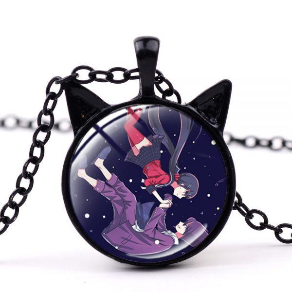 SONGDA Anime Game Dangan Ronpa Danganronpa Chain Necklace for Fans Oma Kokichi Figure Glass Cabochon Cat 2 - Danganronpa Merch
